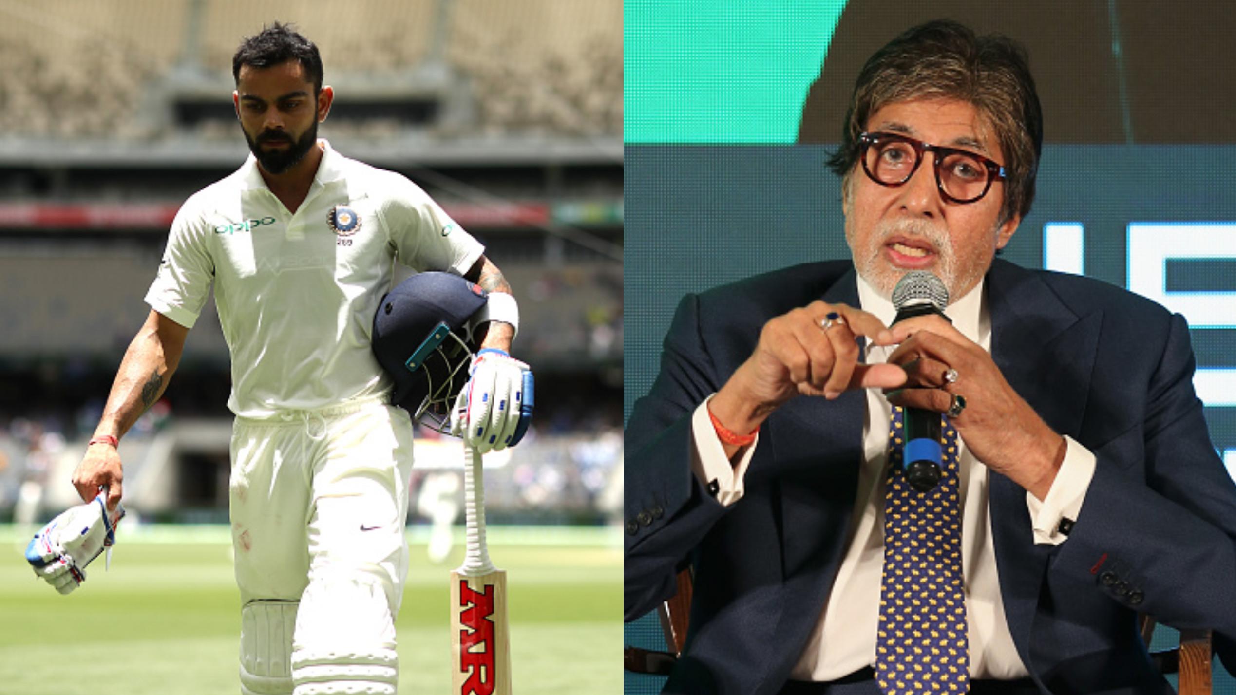 AUS v IND 2018-19 : अमिताभ बच्चन के अनुसार विराट कोहली आउट नहीं थे और की डीआरएस की आलोचना