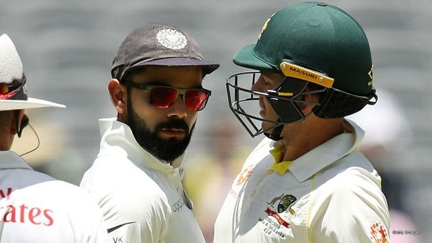 The stump microphones have captured heated exchanges between Paine and Kohli in Perth | Getty Images