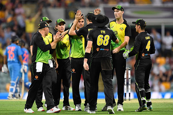 Australia pulled off a fantastic all-round performance and won the Brisbane T20I by 4 runs | Getty