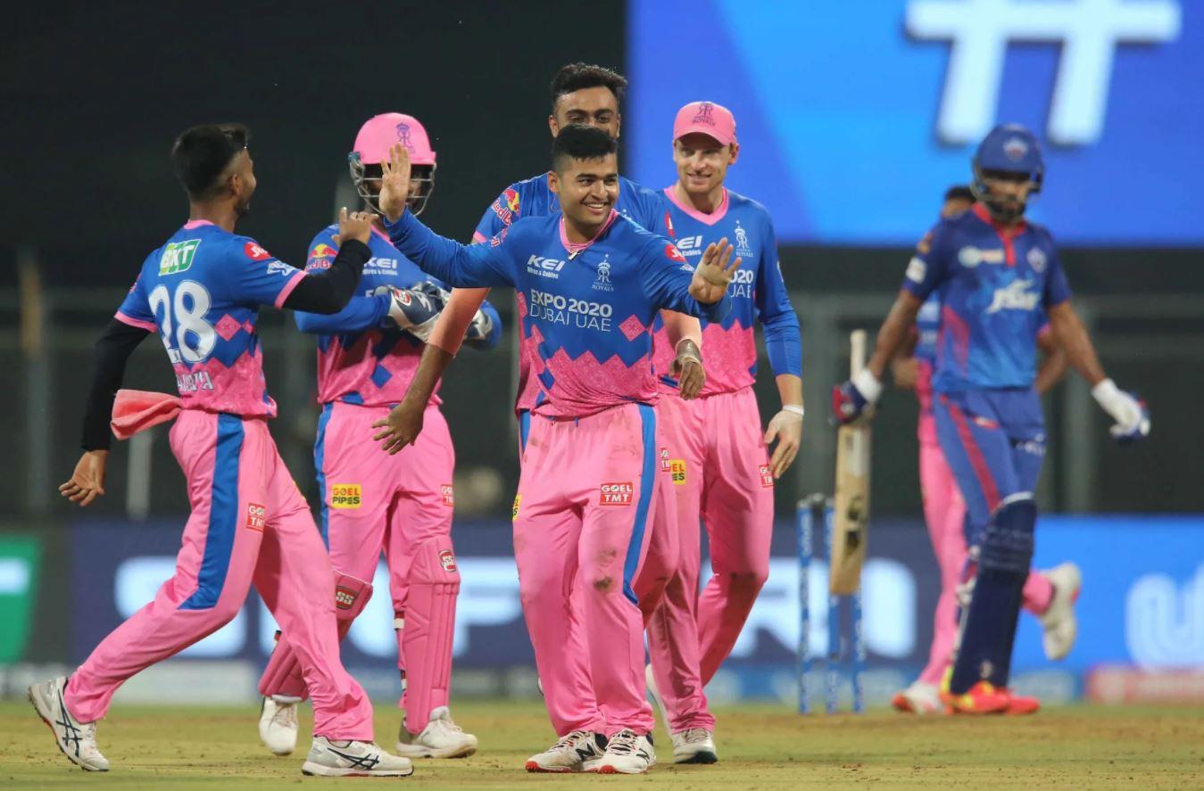 Riyan Parag celebrates the fall of Rishabh Pant | BCCI/IPL