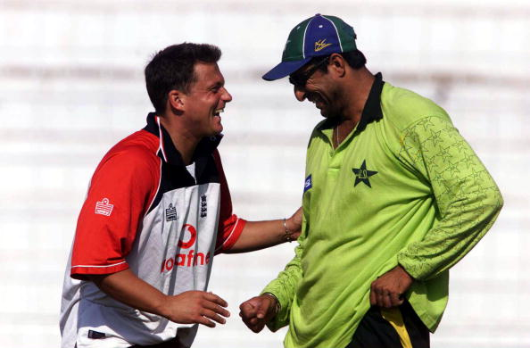 Wasim Akram and Darren Gough | Getty Images