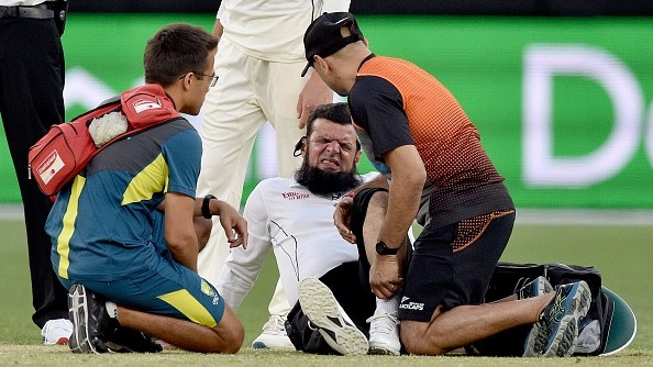 AUS v NZ 2019-20: WATCH - After Ferguson and Hazlewood, umpire Aleem Dar gets injured in Perth Test