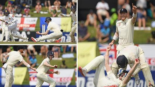 SL v ENG 2018: Watch – Keaton Jennings grabs stunning catch with Ben Foakes assisting