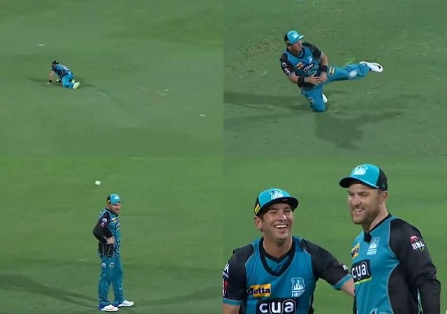 Watch: Yasir Shah's hits his skipper Brendon McCullum on the head with the ball