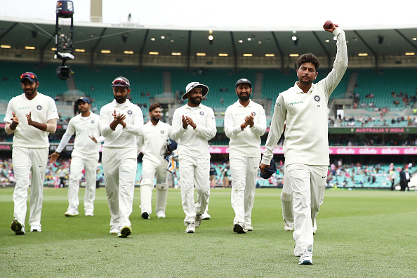 Kuldeep going off in Sydney with a huge round of applause | Getty