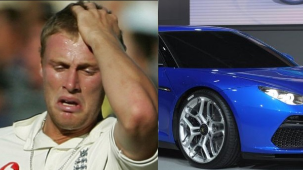 Andrew Flintoff couldn't fit into his new £100,000 Lamborghini
