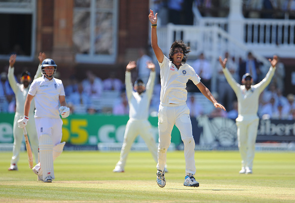 Ishant Sharma during his Man of the Match performance of 7/74 at Lord's in 2014 | Getty