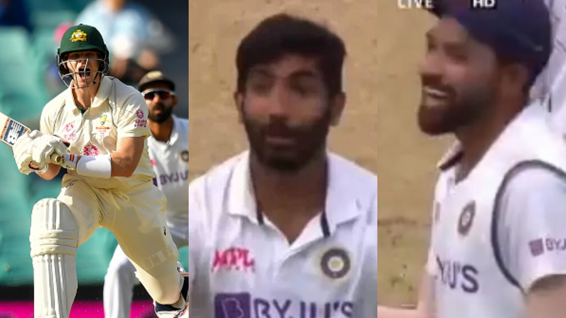 AUS v IND 2020-21: WATCH- Jasprit Bumrah imitates Steve Smith; makes Siraj laugh