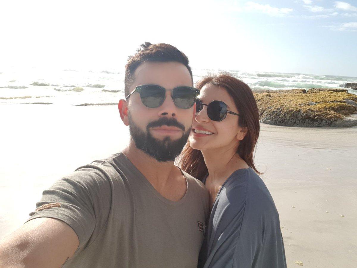 Virat Kohli with his wife Anushka Sharma | Twitter