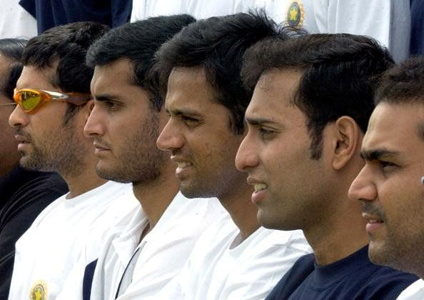 The 'fab five' of Indian batting in early 2000s | Twitter