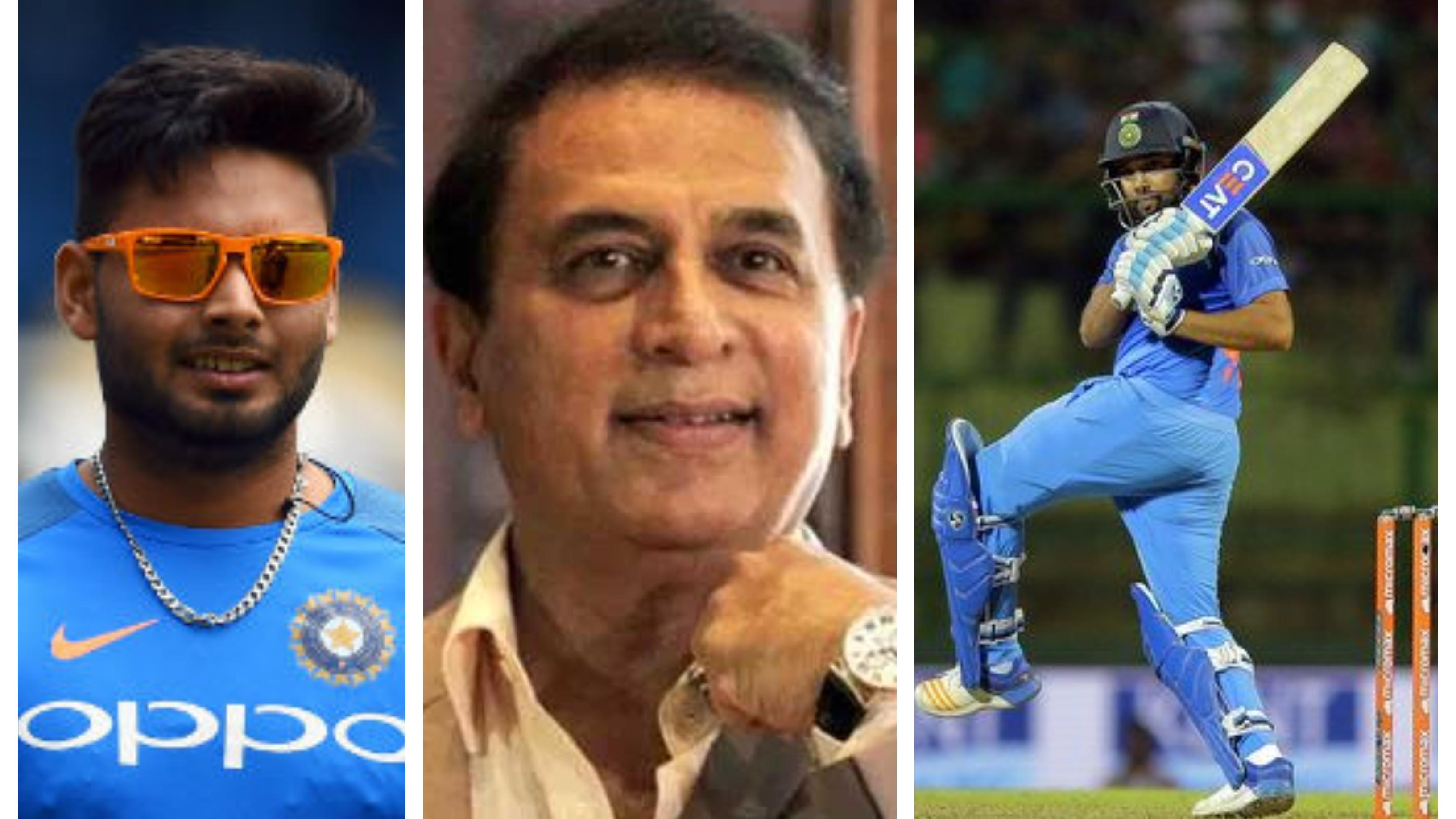 CWC 2019: Sunil Gavaskar backs Warne's idea of Rishabh Pant opening the batting in the 2019 World Cup