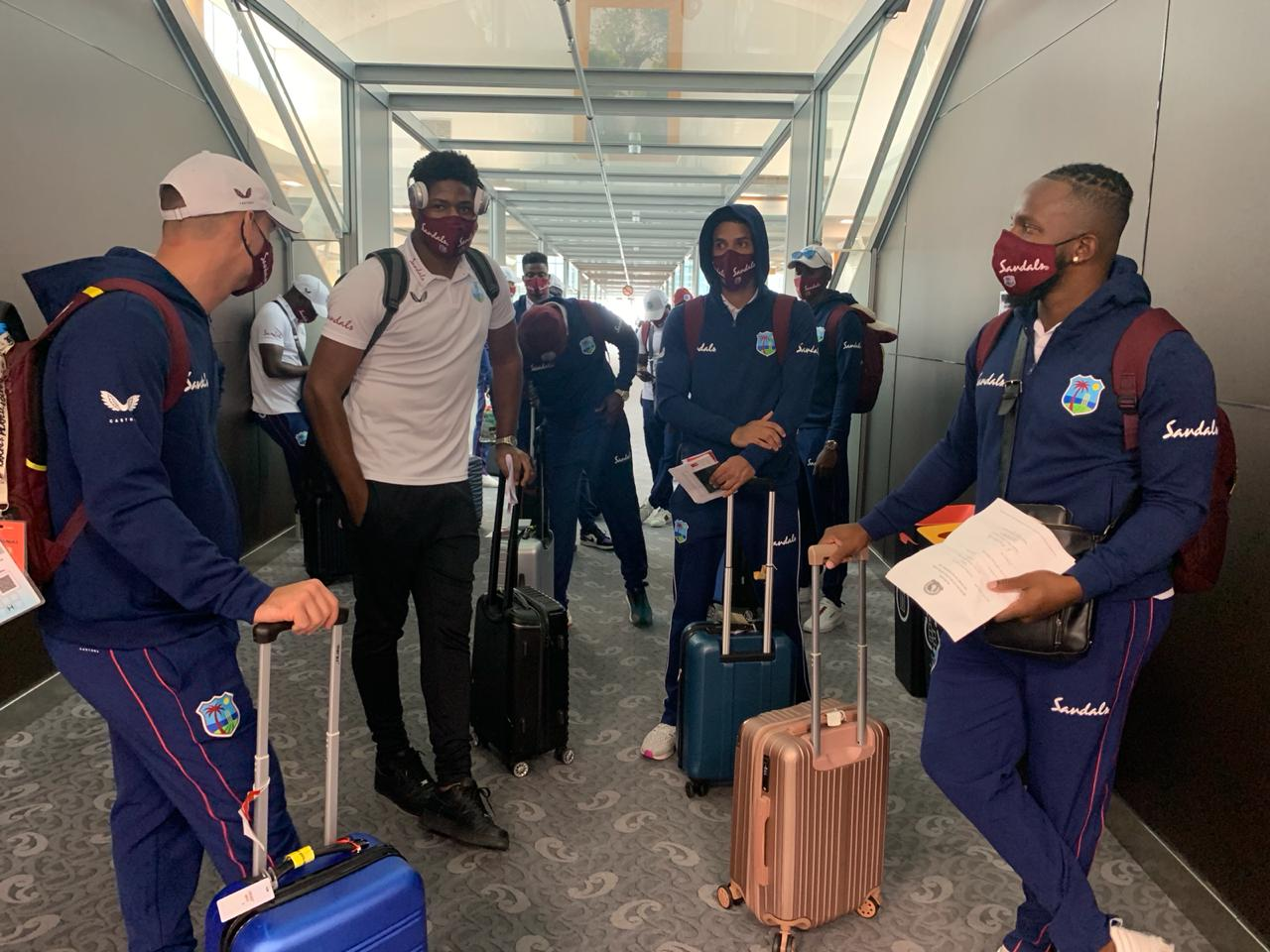 West Indies squad landed at the Christchurch | CWI Twitter
