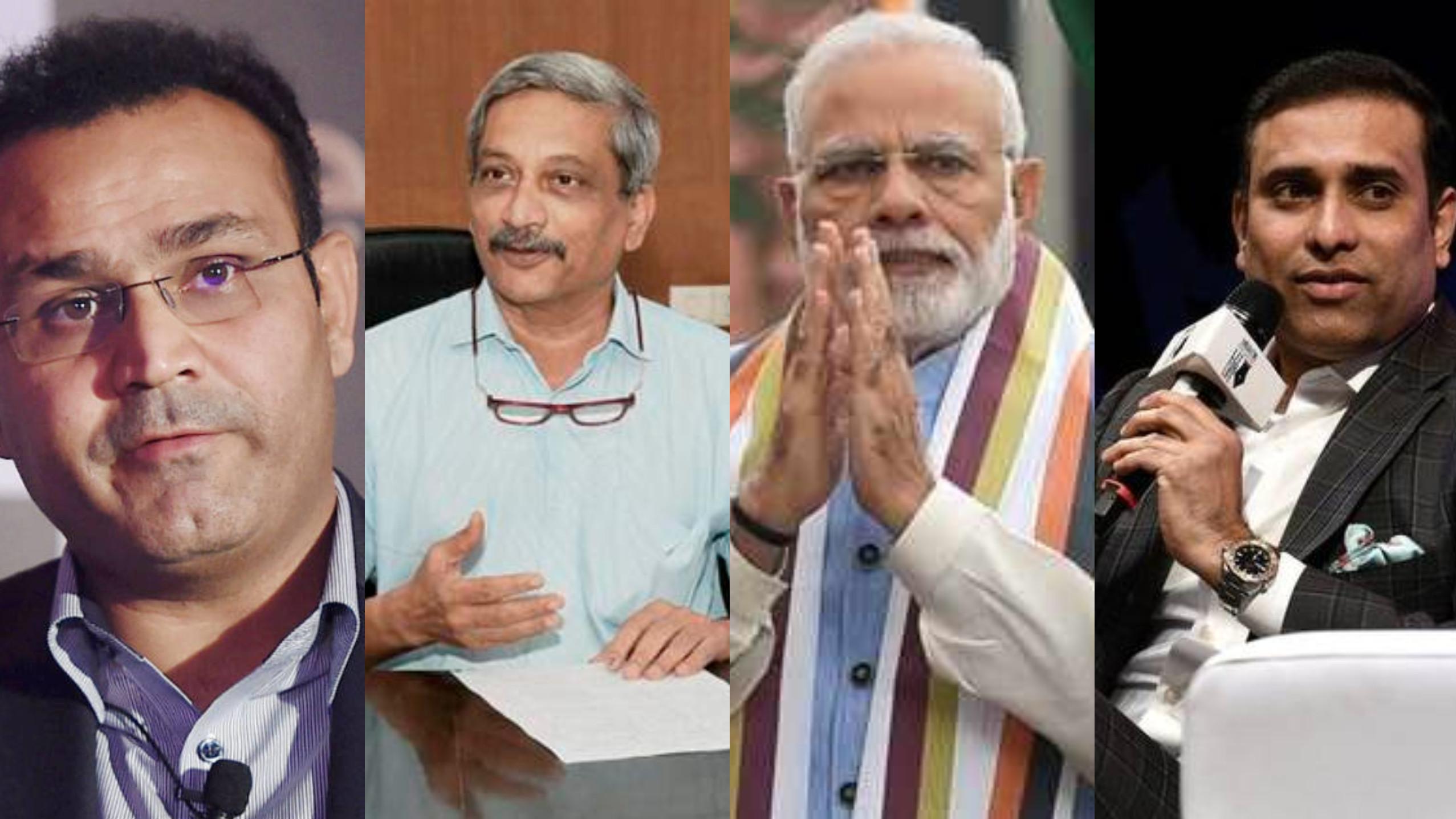 गोवा के मुख्यमंत्री मनोहर पर्रिकर के निधन पर वीरेंद्र सहवाग और वीवीएस लक्ष्मण ने शोक जताया
