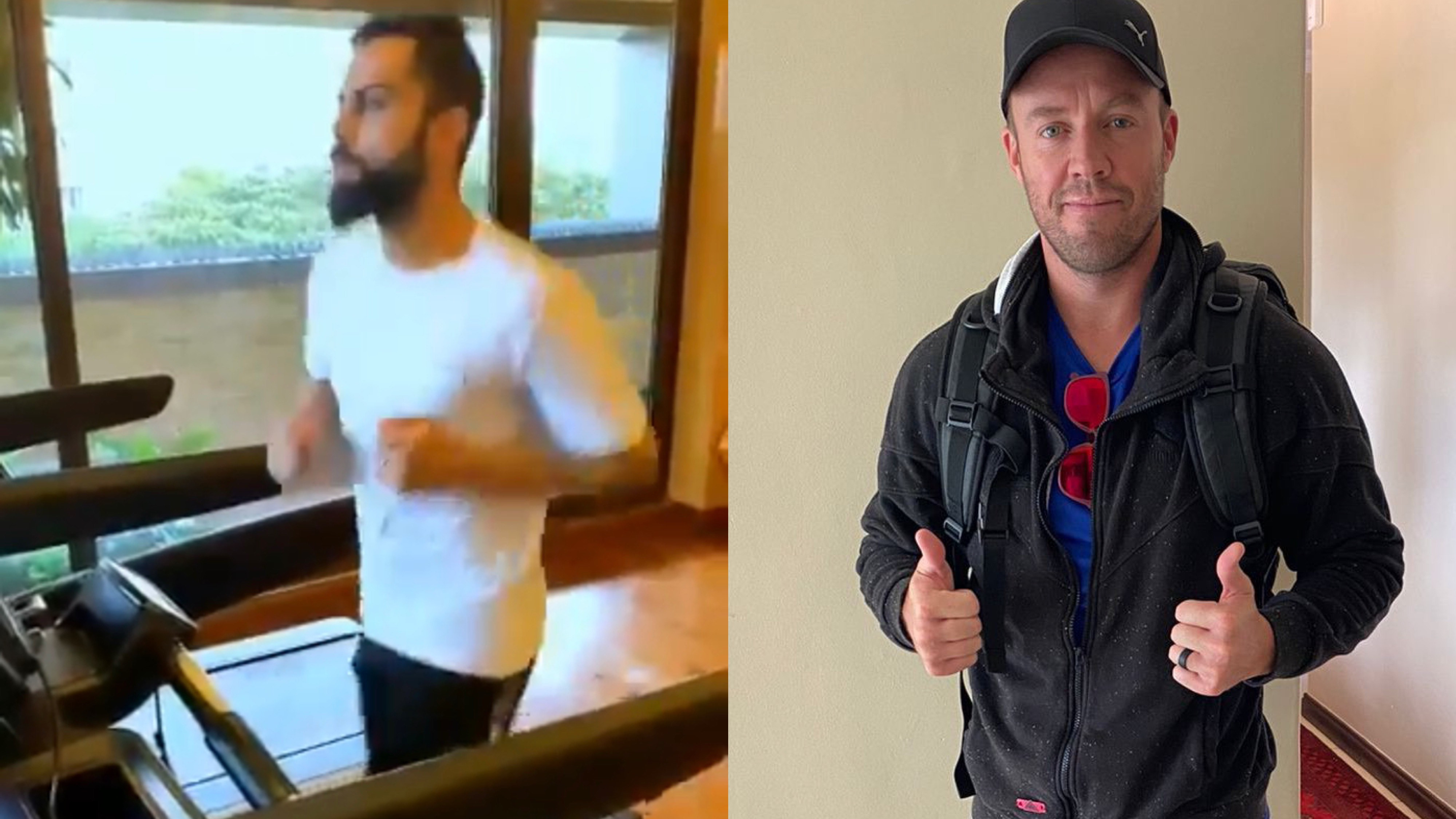 IPL 2021: AB de Villiers challenges Virat Kohli for a race after cheeky query from RCB skipper