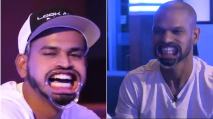 WI v IND 2019: WATCH - Shikhar Dhawan and Shreyas Iyer try the hilarious 'Speak Out' challenge