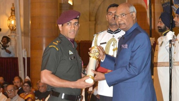 Cricket fraternity congratulated MS Dhoni for receiving Padma Bhushan