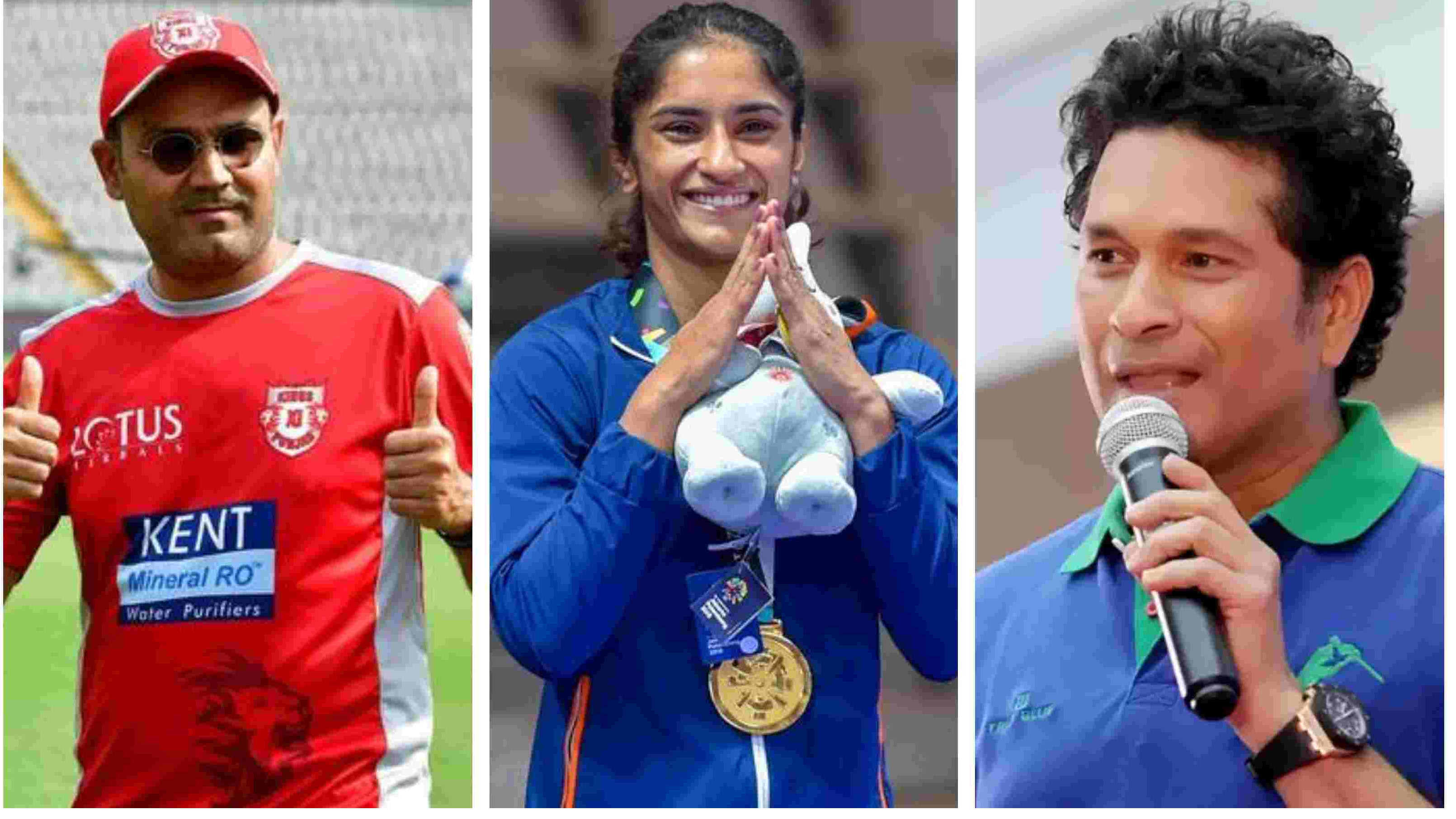 Cricket fraternity laud Vinesh Phogat as she became first Indian woman wrestler to win gold medal in Asian Games