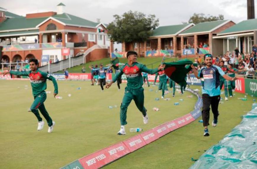 जीत का जश्न मनाते बांग्लादेशी खिलाड़ी | Getty