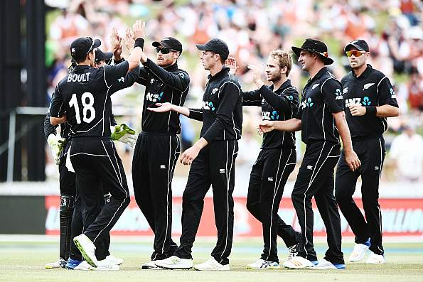Members of the New Zealand cricket team. (Getty)