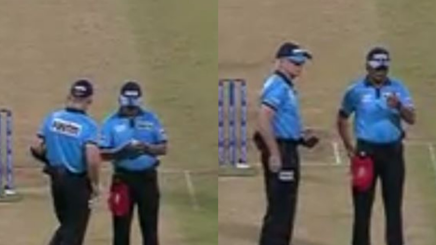 IPL 2019: Twitter reacts as umpire Shamshuddin pockets the ball and then forgets leaving De Villiers in splits