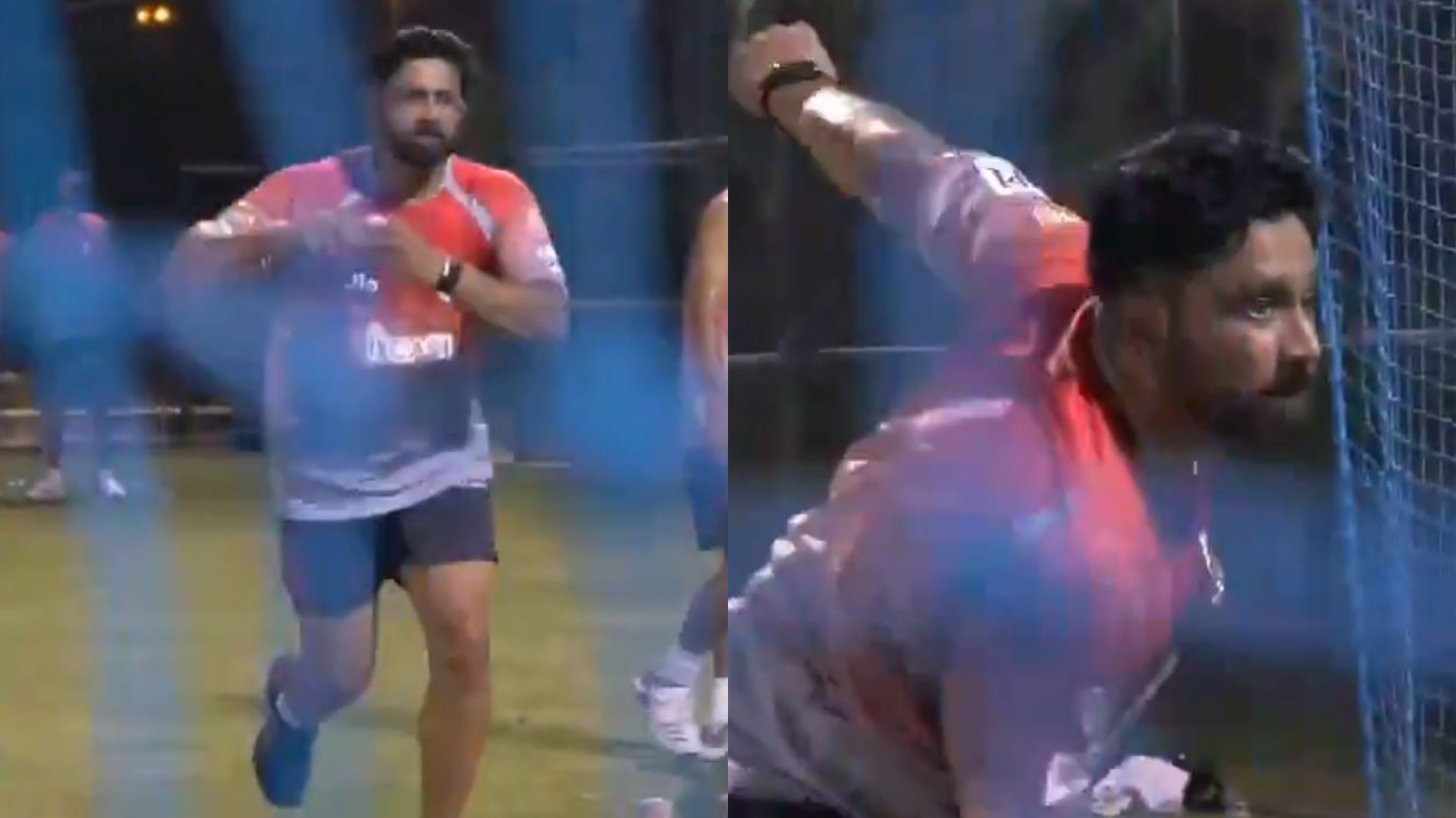 IPL 2020: WATCH- Nostalgia ensues as KXIP coach Anil Kumble rolls his arm over during nets
