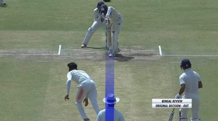 Only a limited form of DRS was used for Ranji semi-finals and final   screengrab