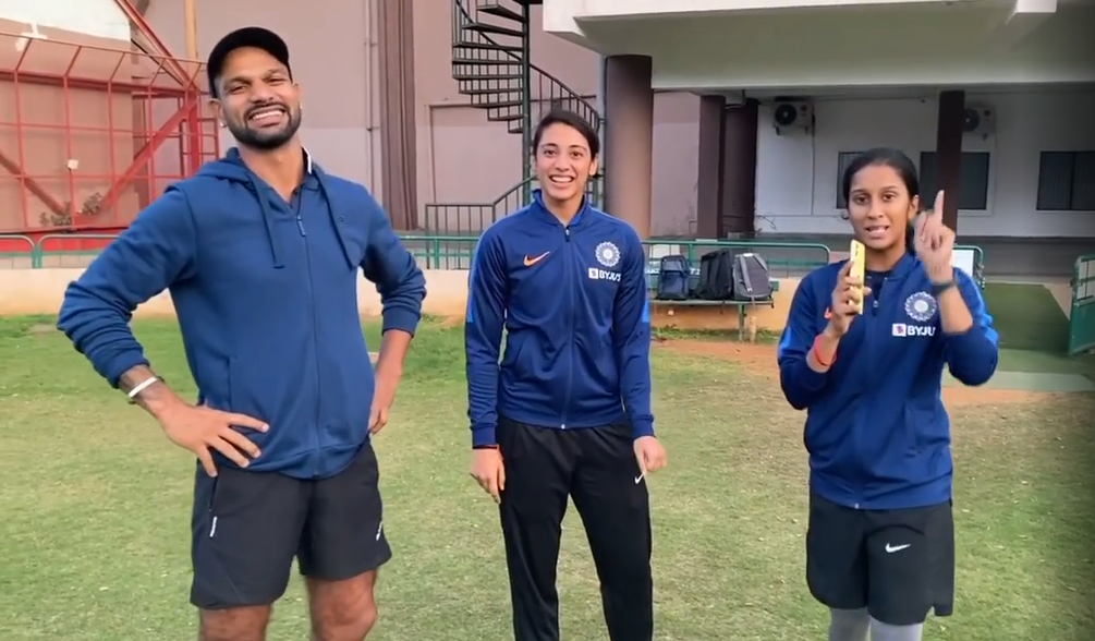 Watch Shikhar Dhawan Smriti Mandhana Face Off In Jemimah S Tongue Twister Challenge