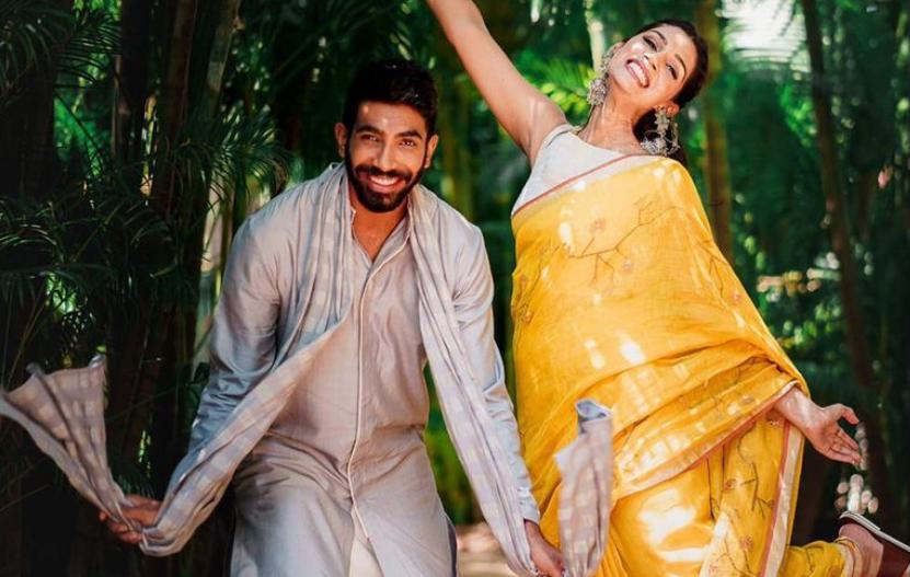 Jasprit Bumrah and Sanjana Ganesan | Instagram