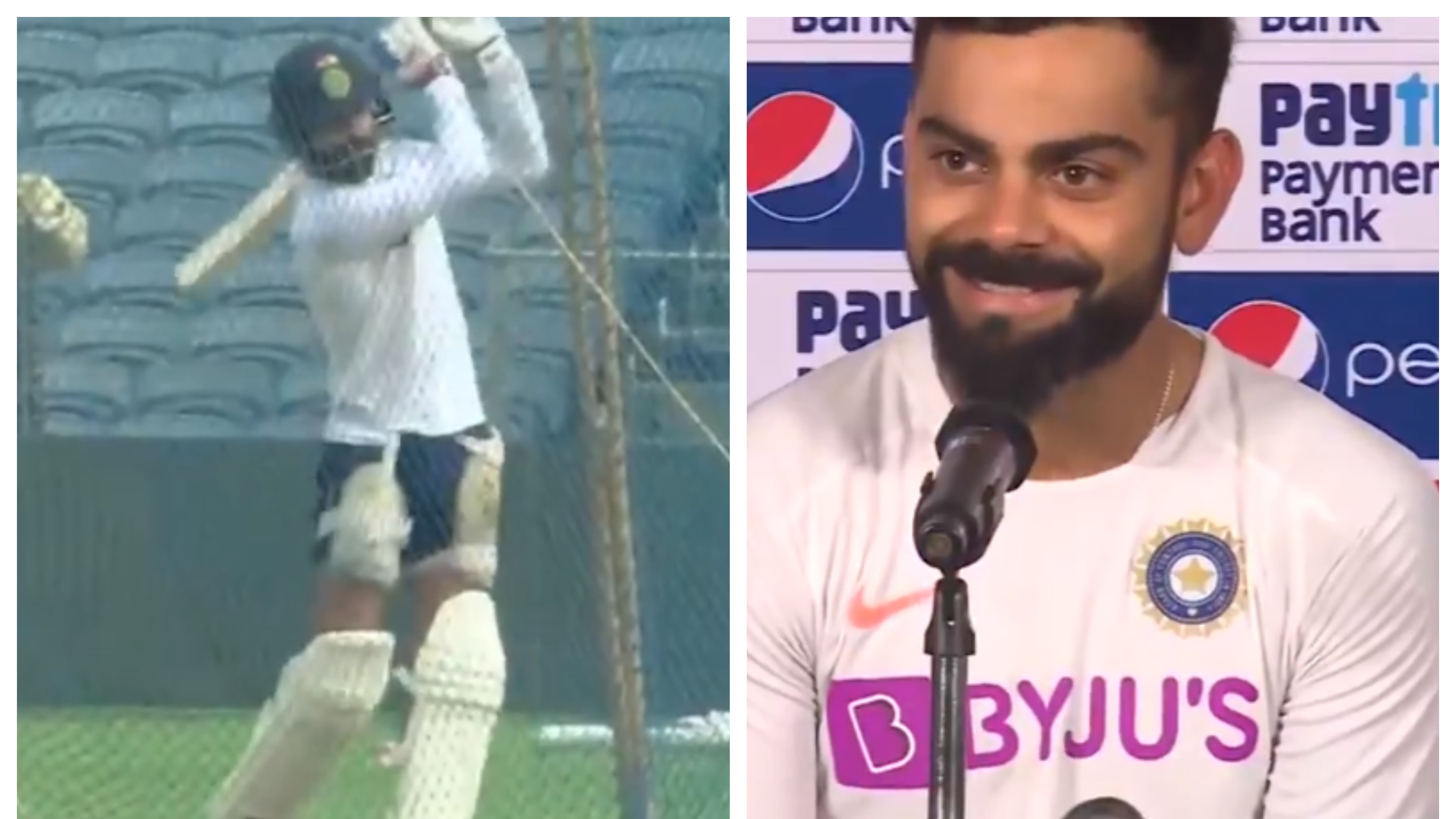 IND v SA 2019: WATCH – Virat Kohli answers why he was hitting the ball hard in nets ahead of Pune Test