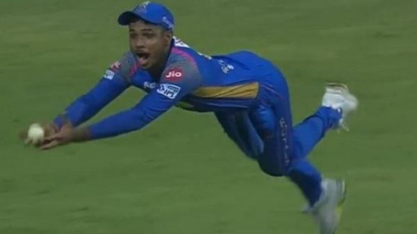 IPL 2018: Watch – Sanju Samson plucks a one-handed stunner to dismiss Hardik Pandya