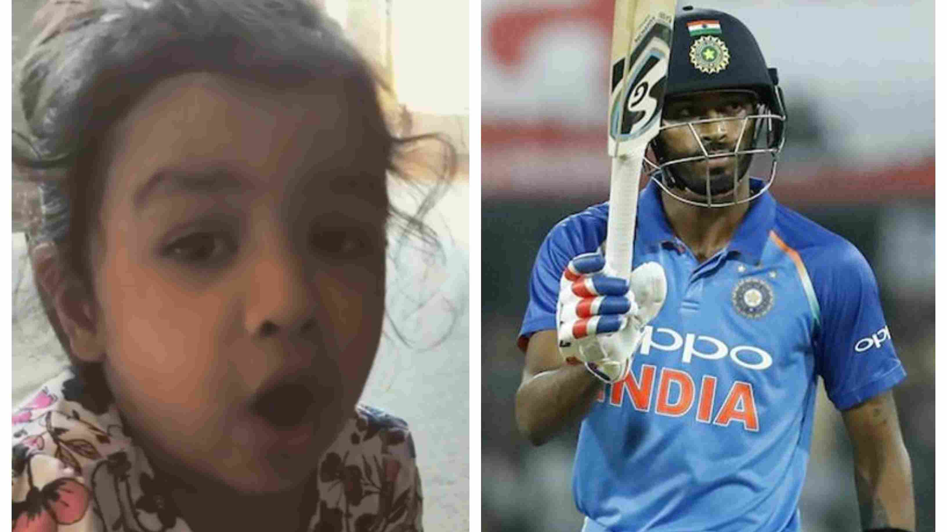 WATCH – Ziva Dhoni adorably cheer for Hardik Pandya during the second T20I against Ireland