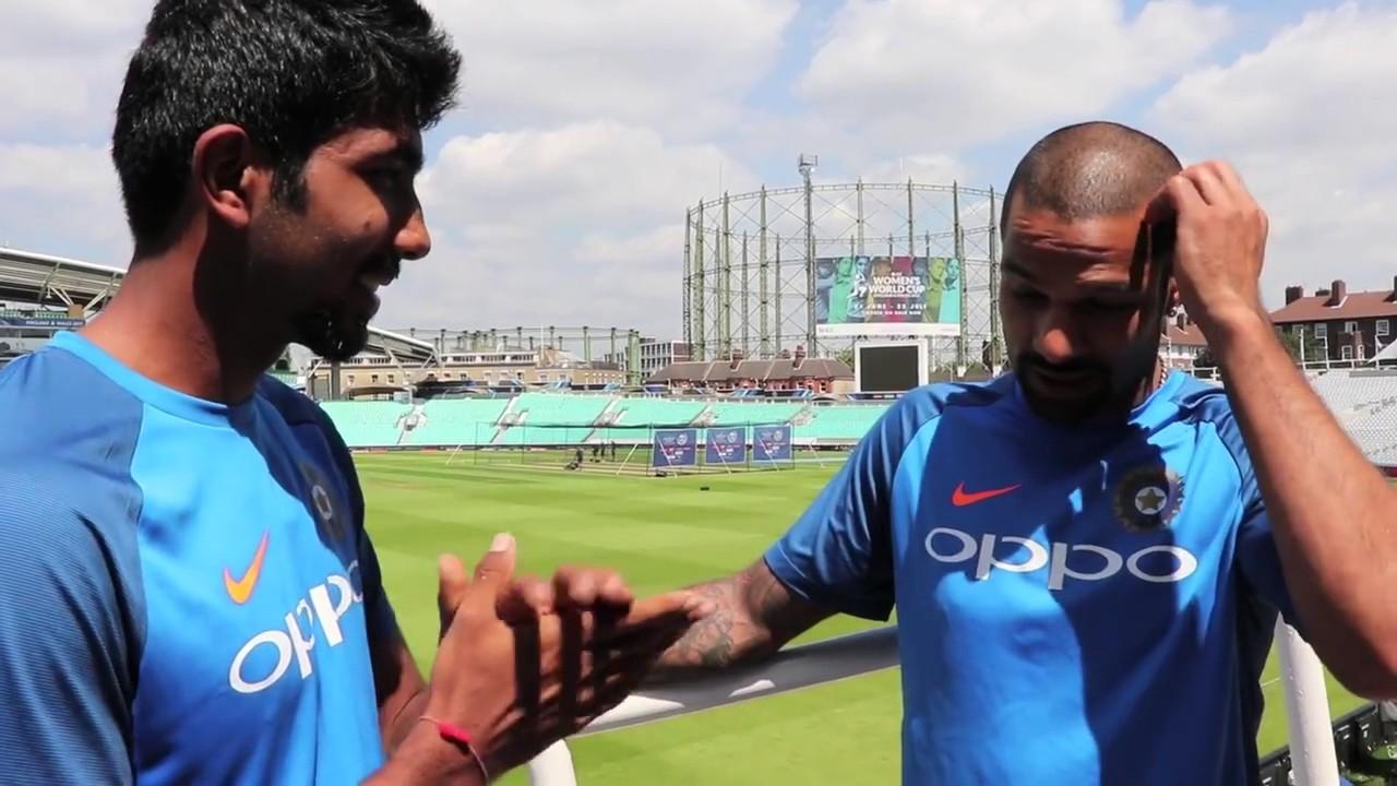 Jasprit Bumrah and Shikhar Dhawan   Twitter