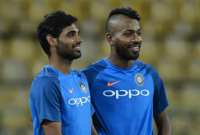 Hardik Pandya with Bhuvneshwar Kumar | GETTY