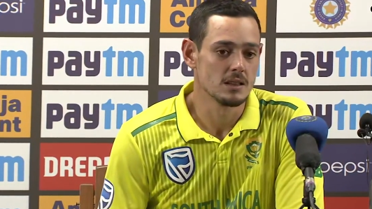 "IND v SA 2019: ""Impressed with the way the guys fought back"", says Quinton de Kock"
