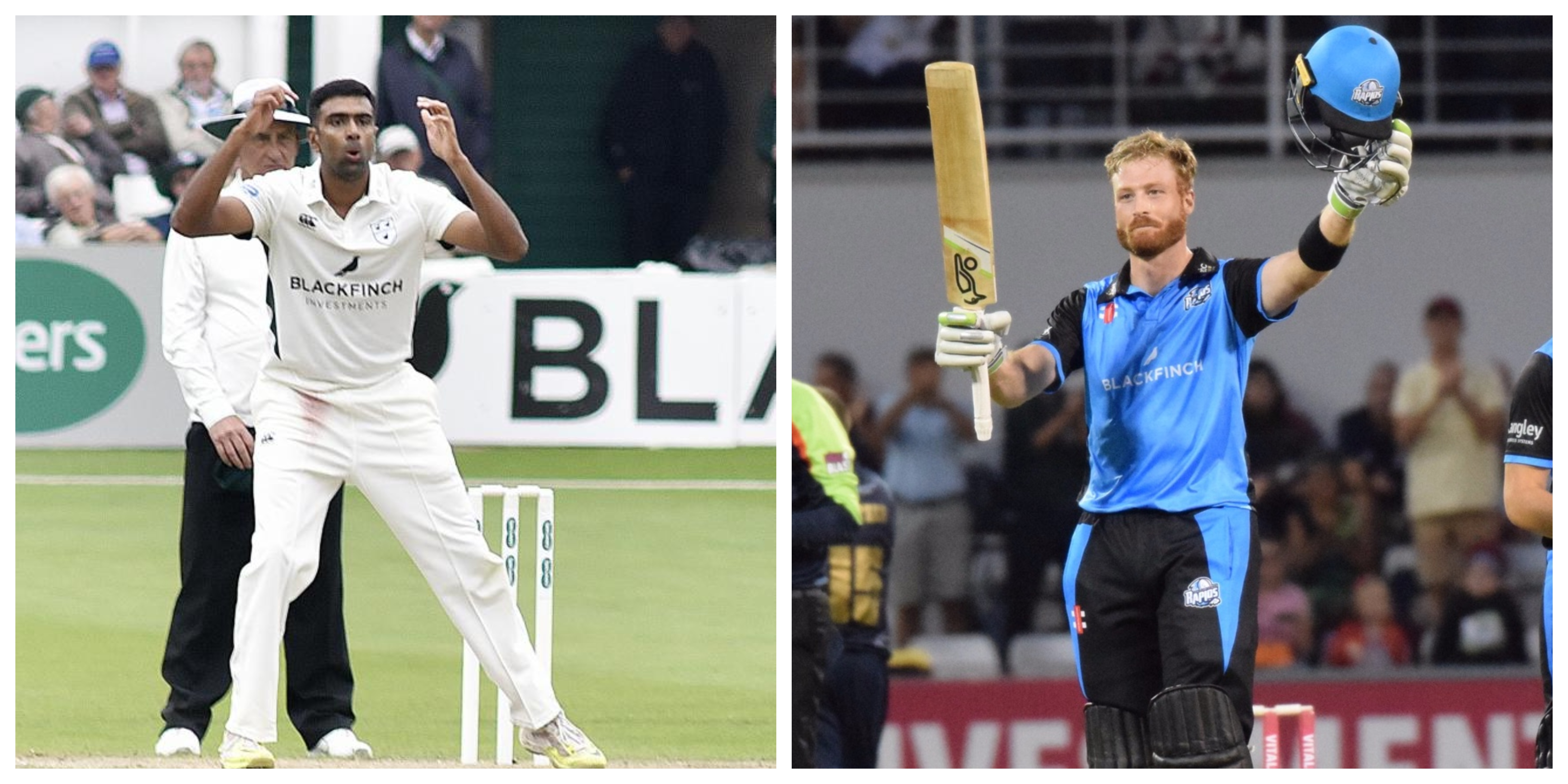 Ravichandran Ashwin and Martin Guptill were two high profile signings for Worcestershire. | Getty