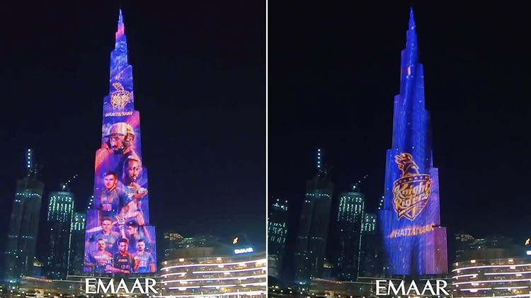 IPL 2020: WATCH – Burj Khalifa lights up in KKR colours before their opening game against MI