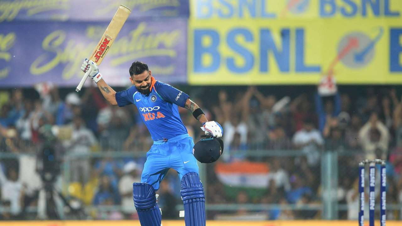 Virat Kohli was at his very best in the third against the West Indies in Pune | AFP