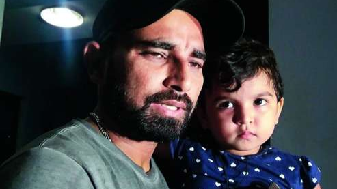 Mohammad Shami tweets an emotional message on his daughter's third birthday