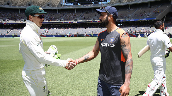 AUS v IND 2018-19: Virat Kohli and Tim Paine describe Perth exchanges as