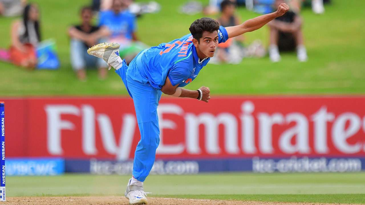 Kamlesh Nagarkoti for India U19 in the 2018 Youth World Cup   AFP