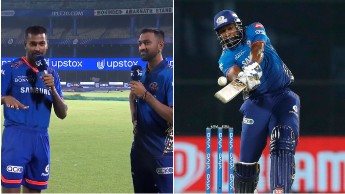 IPL 2021: WATCH - Pandya brothers bow down to 'GOAT' Kieron Pollard after win against CSK