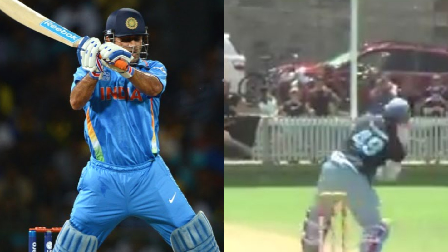 WATCH – Steve Smith emulates MS Dhoni's helicopter shot to perfection