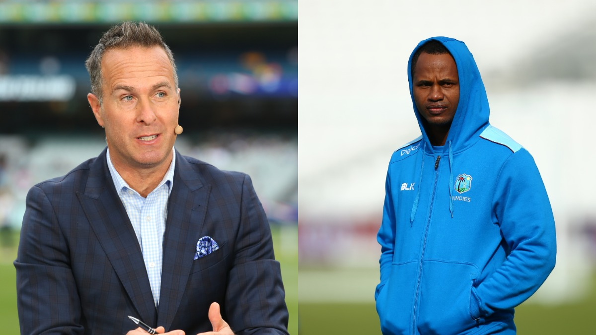 Michael Vaughan and Marlon Samuels | Getty