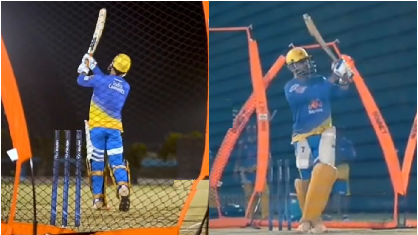 IPL 2021: WATCH - MS Dhoni prepares to demolish bowlers; hits big sixes in net session