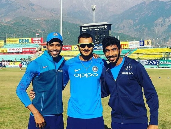 Akshar Patel with Jasprit Bumrah and Hardik Pandya | Instagram