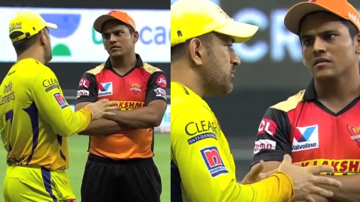 IPL 2020: WATCH - MS Dhoni shares his experience with SRH youngsters after the match