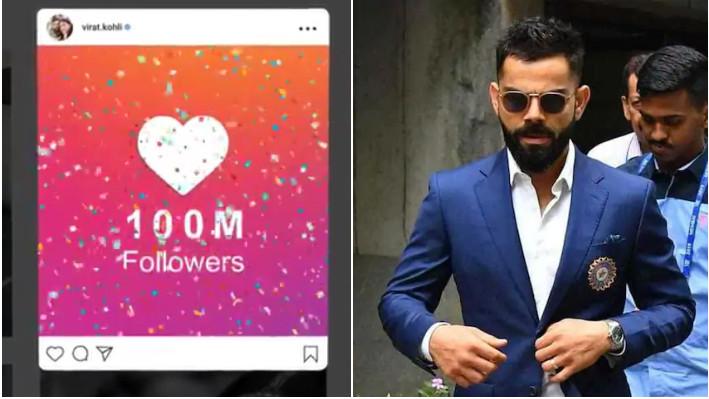 WATCH - Virat Kohli thanks his fans after reaching 100 million followers on Instagram