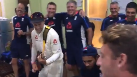 SL v ENG 2018: Watch- Joe Root turns a guitarist in dressing room to celebrate Clean Sweep over Sri Lanka