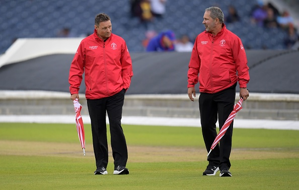 Umpires checking the conditions of the ground | Getty