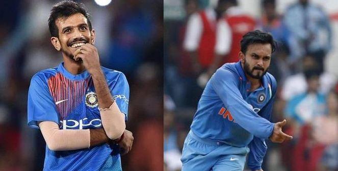 Kedar Jadhav and Yuzvendra Chahal | Getty